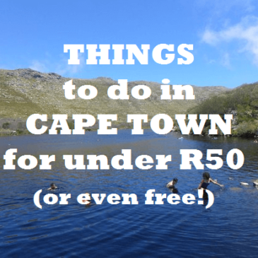 Things to do in Cape Town for under R50